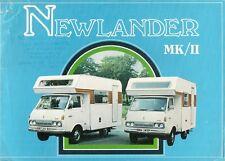 Toyota HiAce Newlander Mk II Motor Caravan 1976 UK Market Sales Brochure