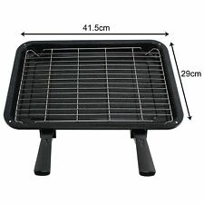 UNIVERSAL Medium Oven Cooker Grill Pan Tray With Handle & Rack