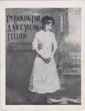 I'm Looking For A Nice Young Fellow, Mindell Kingston, vintage sheet music 2nd