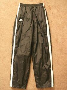 READ Adidas Boys Black Athletic Sweat Pants Sz XL