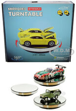 10 INCH ROTARY DISPLAY TURNTABLE STAND MIRROR TOP USB POWERED 1/24 1/18 MJ11010