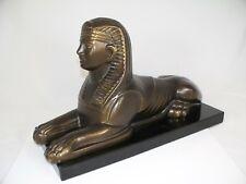 Metall Figur SPHINX VON GIZEH bronziert L 31 cm handgefertigt in Deutschland neu