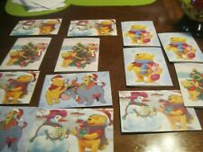 New listing Winnie The Pooh Vintage Collectible Christmas Card Disney Lot Of 13