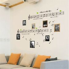 MUSIC NOTES SHEET MUSIC REMOVABLE VINYL WALL DECAL STICKER HOME ART DECOR DIY