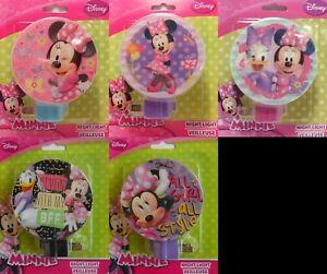 Night Light Disney MINNIE MOUSE Daisy Duck Child Room Hallway Bathroom 5 Styles