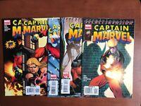 Captain Marvel #1-5 (2008) 9.2 NM Marvel Key Issue Complete Comic Set Variant