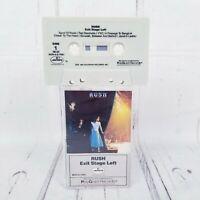 Rush Exit Stage Left 1981 Cassette Tape MCR-4-2-7001