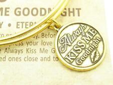 Wind und Feuer Kiss Me Goodnight Gold Draht Armreif Stapelbar Armband Geschenk
