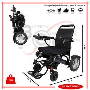 Carrozzina elettrica pieghevole ultraleggera, sedia a rotelle per disabili E180