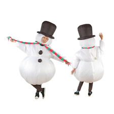 Adult Funny Inflatable Snowman Fancy Dress Costume Outfit Suit Christmas Cosplay
