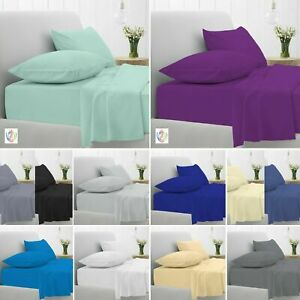 Percale Poly Cotton Sheet sets (Flat Sheet+ Fitted Sheet+ Pillowcase)