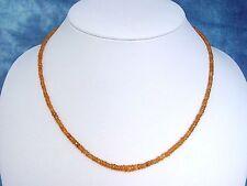 GRANATKETTE 48,50 Ct. facettierte Mandaringranat Kette orange 46 cm (897k)