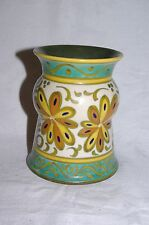 "Vintage Gouda Plazuid Holland  Handpainted Art Pottery 5"" vase Pattern 191"