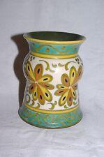 "Vintage Gouda Plazuid Holland  Handpainted Art Pottery 5"" vase Pattern 191"