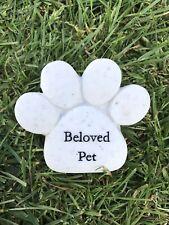 Memorial Cat Dog Paw Garden Ornament Memory Stone Beloved Pet Grave Animal