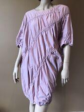 COS RARE LILAC ELASTICATED QWERKY DRESS TUNIC UK 10 12