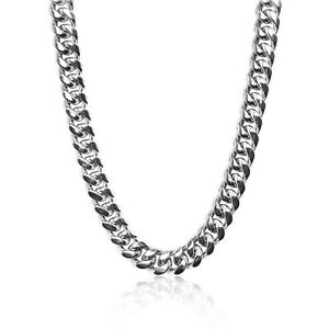 Rapper Miami Cuban Link Chain 18mm Necklace 18K White Gold Plated VVS Jewellery