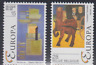 PP2 - BELGIUM 1993 EUROPA CONTEMPORARY ART PAINTINGS #1483-4 MNH