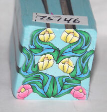 "polymer clay cane, raw, square, Kato, Premo # 75146 7/8"" x 1 5/8"" 1 ounce"