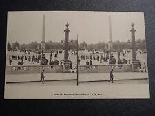 """CARTE POSTALE STEREO CARTE """"EN 1900"""" PARIS PLACE DE LA CONCORDE"""