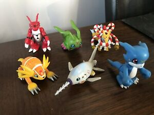 6 Moving DIGIMON Action Figures (Bandai) From Season 2 & 3