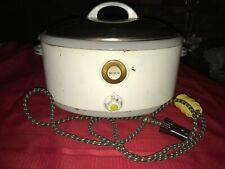 Vintage 1940's NESCO ENAMEL ROASTING PAN SLOW COOKER 7016 Fryer 800W 500 Degrees