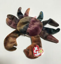 Ty Beanie Baby, Claude The Crab, 1996, New With Tag, 4th Generation