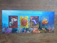 2015 THAILAND MARINE LIFE 4 STAMP MINI SHEET MINT STAMPS