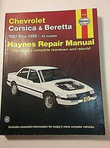 Haynes Repair Manual, Chevrolet Corsica/Beretta, 1987-96