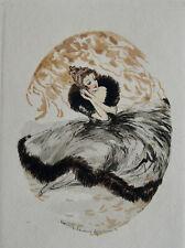 LOUIS ICART (1888-1950) GRAVURE EN COULEURS, ORIGINALE DE 1930 ........BB