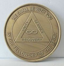 Alcoholic Eternity Infinity Recovery Coin Chip Medal Token  AA Anonymous-Bronze