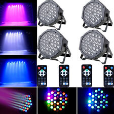 4PCS 36W RGB 36x LED Par Stage Light DMX512 DJ Disco Party Lighting + Controller