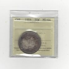 **1904**, ICCS Graded Canadian 50 Cent, **MS-64**
