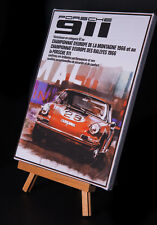 PORSCHE 911 STRETCHED AND FRAMED CANVAS
