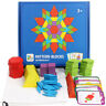 Kids 155pcs Wooden Jigsaw Puzzle Board Set Colorful Montessori Educational lo