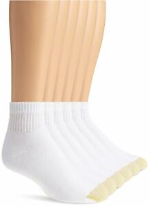 Gold Toe Men's Big and Tall 656P Cotton Quarter Athletic, White, Size 12.0 kI5w