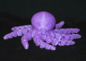 OCTOPUS ~ Flexible Articulating ~ Purple ~ 3D Printed in USA ~ Fidget Toy