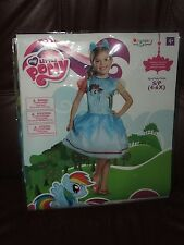 New Disguise My Little Pony Rainbow Dash Halloween Costume Dress SMALL SZ 4-6X
