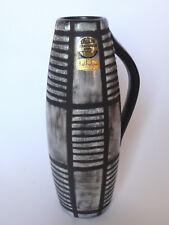 Schweizer Keramik Handarbeit - ZIEGLER Schaffhausen 1054/1 Vase schwarz-weiss