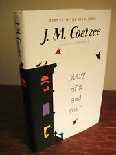 1st/1st Printing DIARY OF A BAD YEAR J.M. Coetzee NOBEL PRIZE Modern Fiction