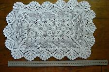 Vintage CROCHET CENTRE - Cotton IVORY Rectangle Approx 31x49cm LF