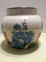 Antique Stoneware Glazed Small 7 Inch Pantry Jar Crock with Lid Very Nice Condi.