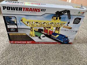 Power Trains 2.0 Starter Set 23 Pieces w/Crane & Gantry- Open Box