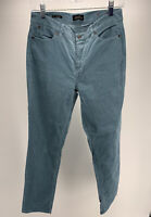 Talbots Corduroy Pants Flawless Five Pocket Size 6 Straight Blue/Gray EUC
