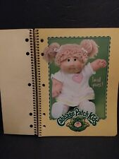 VINTAGE CABBAGE PATCH KIDS 3 SUBJECT NOTEBOOK 1980s ORIGINAL