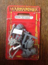 WARHAMMER. IMPERO CAVALIERI DELLA WHITE WOLF Comando, standard. SIGILLATO. metallo.