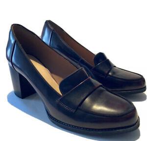 Clarks Artisan Womens 9 Tarah Grace Burgundy Shiny Leather Heels Pumps Oxblood