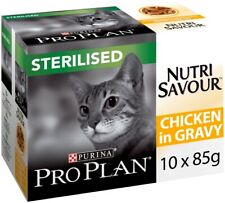 PRO PLAN NutriSavour Sterilised Wet Cat Food Chicken in Gravy   Cats