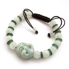 Natural Jadeite Jade Gem Buddha Bead Tibet Buddhist Prayer Beads Mala Bracelet