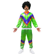 80s Mens Adult 80s Scouser Shell Suit Fancy Dress Costume Tracksuit Stag Do